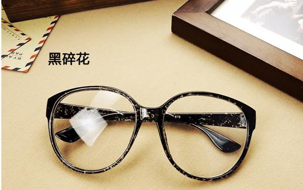 Brand fashion big glasses frame men and women retro vintage decorative frames without lenses round glass
