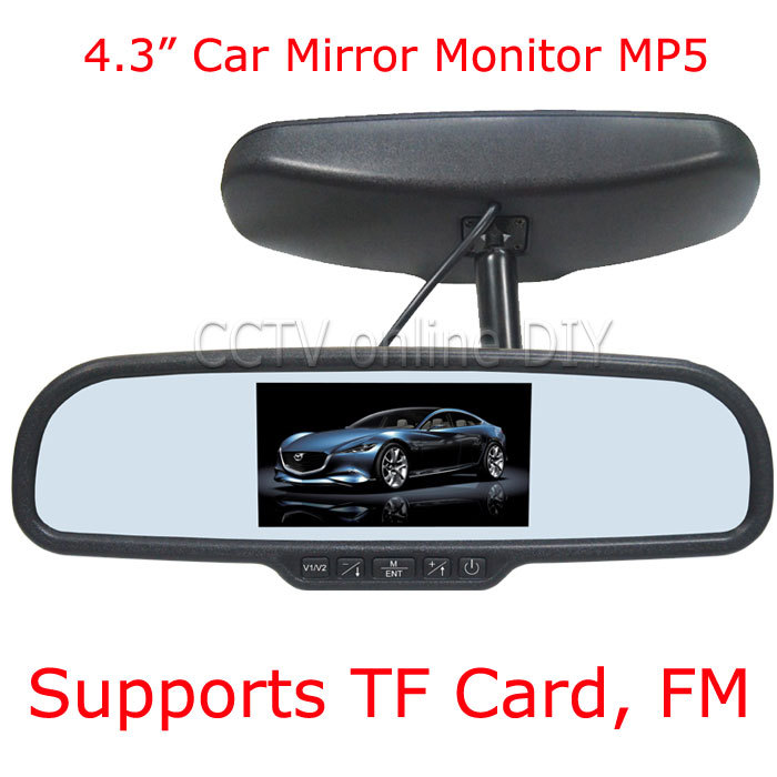 4.3 TFT-LCD Special Car Rear View Mirror Monitor with MP5 Player FM Function<br><br>Aliexpress