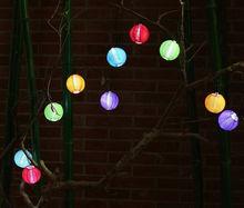20 /30 LED Fairy Solar Power String Lights Nylon Cloth Lantern Wedding Xmas Party Event Supplies Outdoor Decor(China (Mainland))