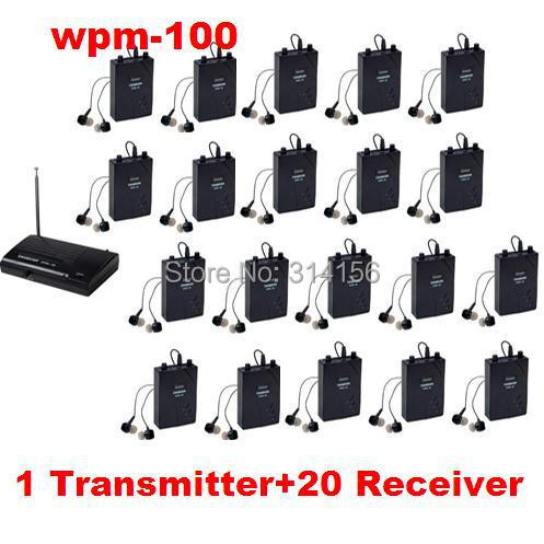 Upgraded Version Takstar wpm-100/ wpm 100 UHF Stage Wireless Monitor System 50M Operating Range 1 Transmitter +20 Receivers(China (Mainland))