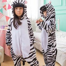 Pijama Animal para Meninas Inverno quente Crianças pijama crianças pijama unicornio infantil pijama enfant pillamas para 4-12 licorne Y(China)