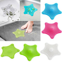 Hot New Vogue Cute Starfish Floor Drain Hair Stopper Bath Catcher Sink Strainer Sewer Filter Shower Cover 4 Colors Cheap Z1