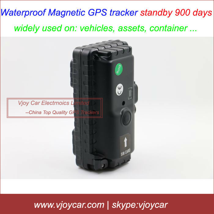 China top quality magnet long battery life waterproof gps tracker for vehicles, human, container, assets and standby 900 days(China (Mainland))