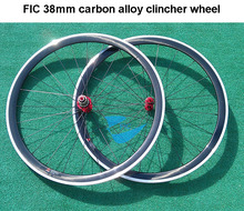 Buy Stiff 1700g FIC 38mm carbon alloy clincher wheel ud clear coating aluminum brake free 700c 38mm clincher wheel for $442.70 in AliExpress store