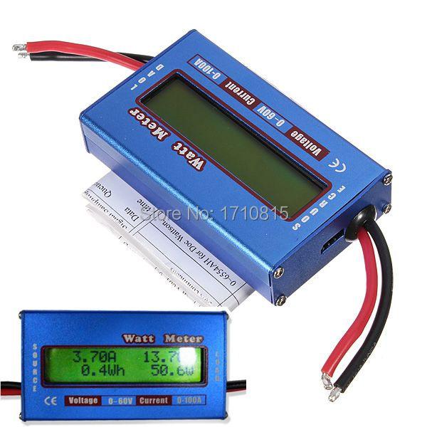 New Digital LCD For DC 60V/100A Balance Voltage RC Battery Power Analyzer Watt Meter(China (Mainland))