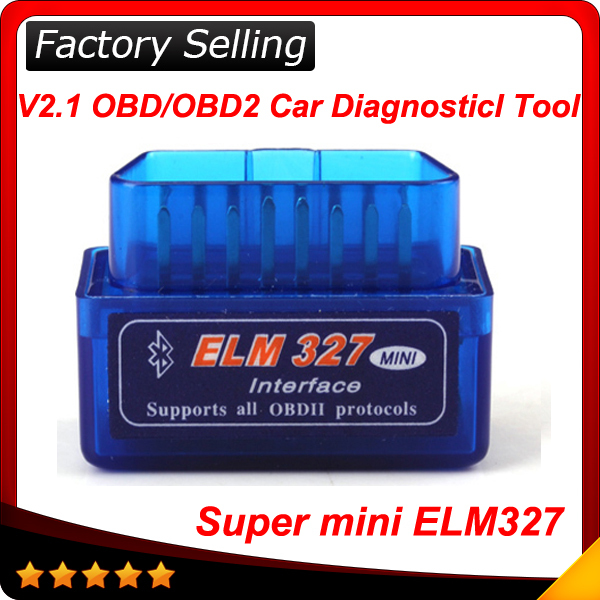 2015 Latest Version V2.1 Super mini elm327 Bluetooth OBDii / OBD2 Wireless Mini elm 327 Works on Android Torque In stock(China (Mainland))