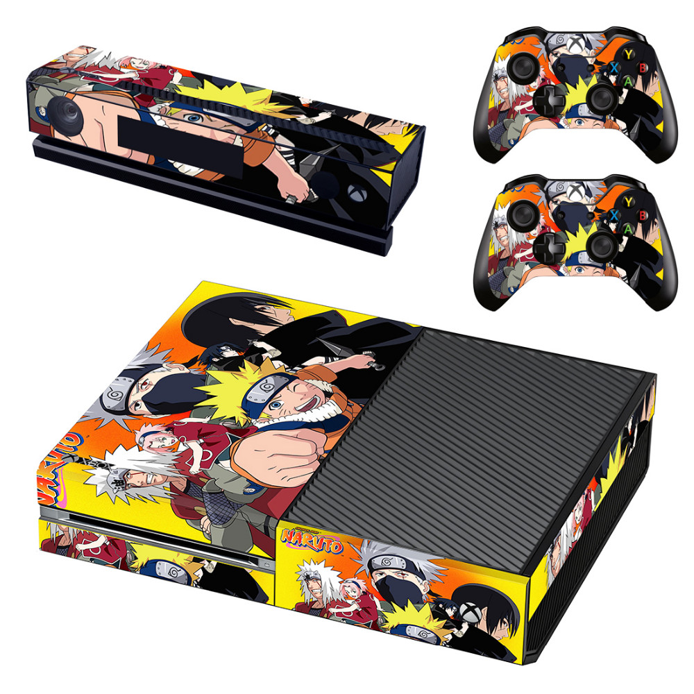 Anime Naruto Skin Sticker Decal For Microsoft Xbox One Console and Kinect and 2 Controllers Sticker Accessory