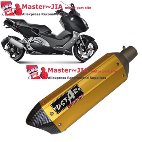 Universal Muffler Exhaust GY6 YZF600 CBR900 CF150 CF250 CB400 CB250 CBR125 CBR600 CBR1000 ER-6R DR800 ER-6N FZR 50 DT 200 XJ600(China (Mainland))