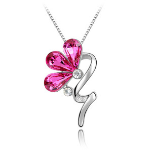 Top Quality Crystal Butterfly Necklace Made With Genuine Swarovski Elements Friendship Jewelry for gift(China (Mainland))