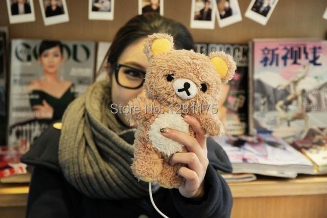 Cartoon Plush idoll case for Note3 Note4 3D Rilakkuma Bear Idoll case for Samsung Galaxy S3 S4 S5 Note 3 Note 4 N9100 capa case(China (Mainland))