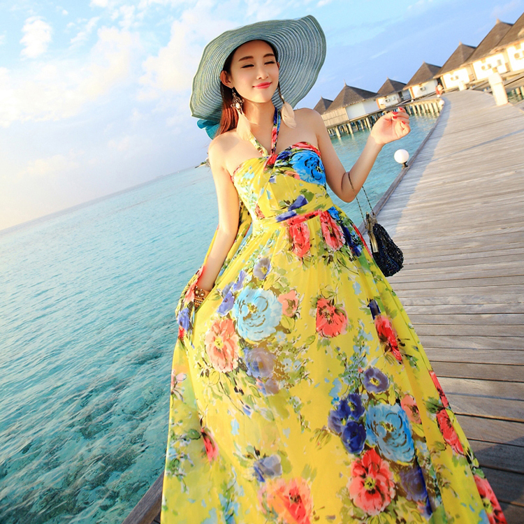 Bohemian maxi dress pattern