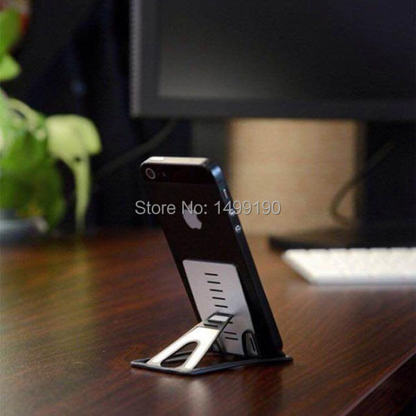 1pc/lot 2015 Newest Simple Mobile Phone Holder Card Bracket Stand For iphone6 plus 5S Tablet PC Device Video Read Browse(China (Mainland))