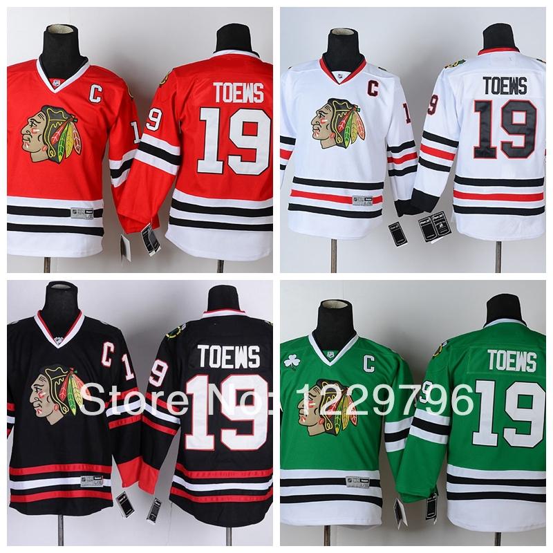 Гаджет  Youth Chicago Blackhawks Hockey Jerseys #19 Janathan Toews Jersey Kids Home Red Road White Alternate Black Green Jerseys C Patch None Спорт и развлечения