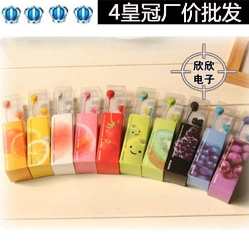 4 smiley fruit earphones bulk boxed mp3 furthermore 12 earphones y41 free shipping dropshipping