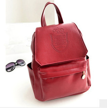 HOT  Free Shipping College Style Pu Leather Backpack 7 Colors Women Travel Bag School Backpack