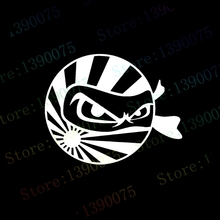 car styling JDM Ninja Japan Flag Vinyl Sticker decal Drift Logo Computer Laptop Wall SUV Truck Car Window Bumper