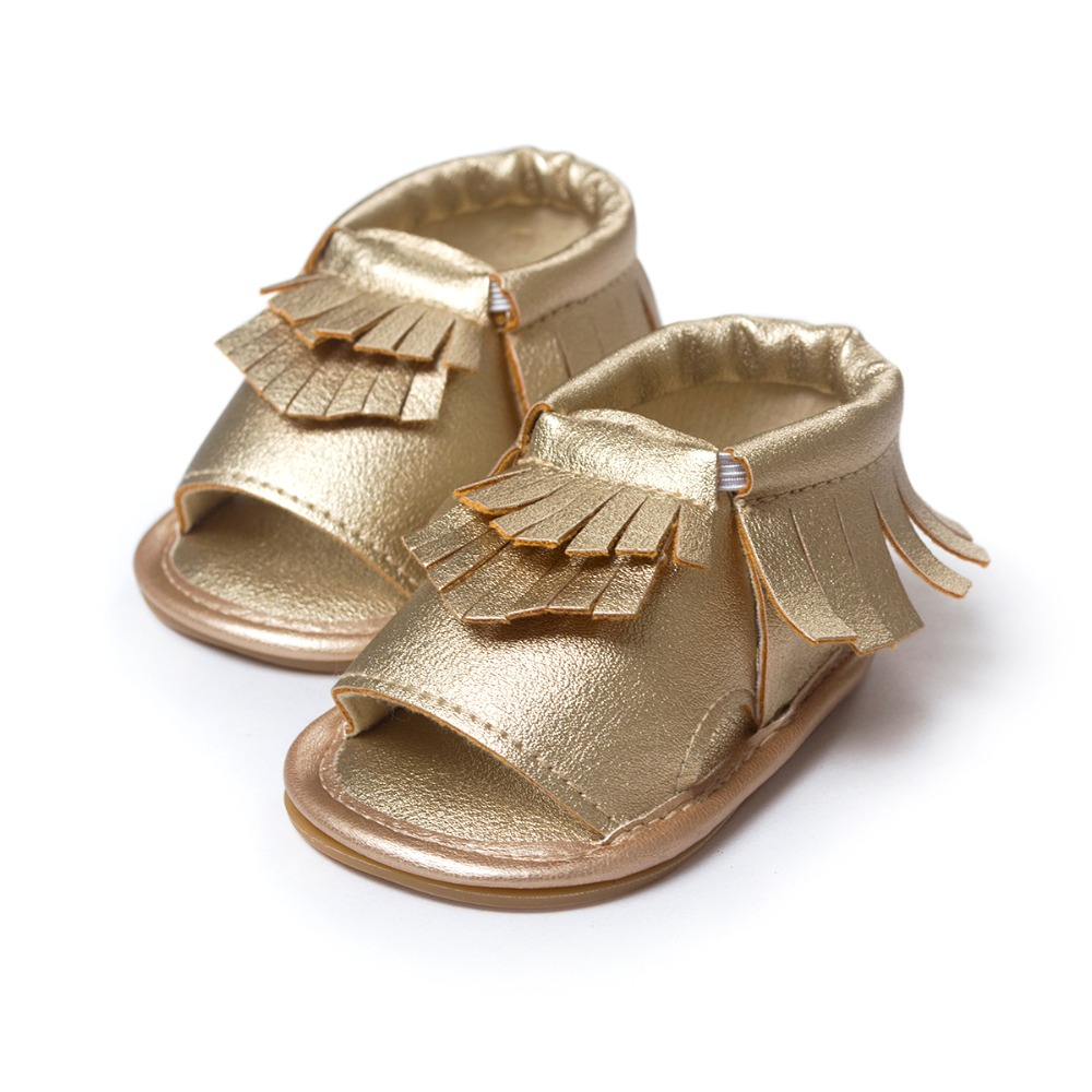 Wholesales PU Leather Fringe Newborn Baby Girl Boy Crib First Walkers Soft Soled Summer Baby Moccasins Moccs Shoes 4558