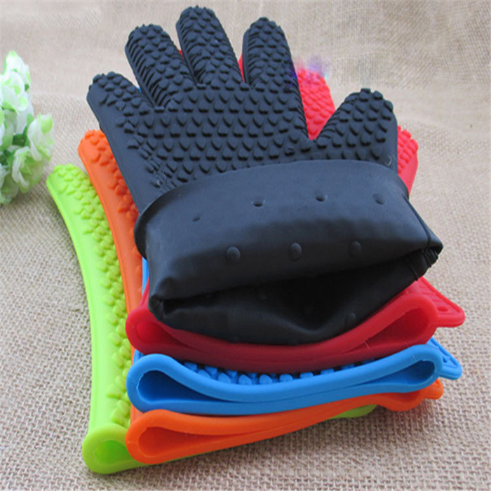 2015 New 1Pcs Home Kitchen Silicone Oven Gloves Heat Resistant Gloves Temperature Resistant Gloves Free Shipping(Hong Kong)