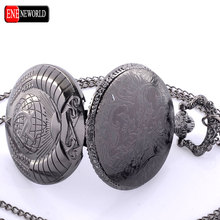 New Fashion Soviet BOLSHEVIK Quartz Pocket Watch Man Classic Vintage Antique Silveer Necklace Steampunk Pendant Gift