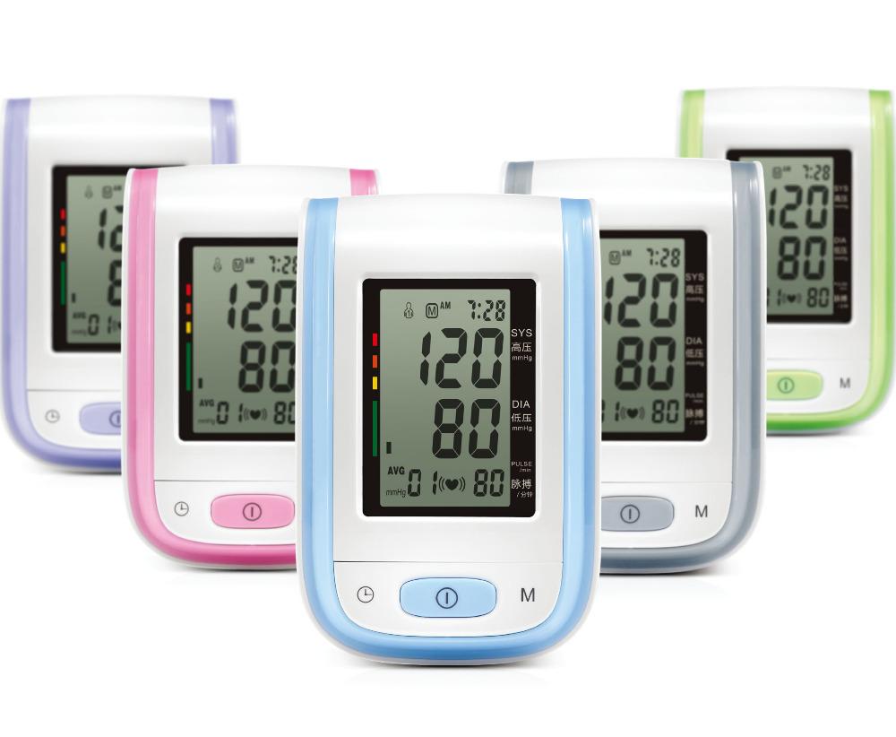 New! Digital Upper Arm bp Blood Pressure Pulse Monitors Sphygmomanometer Tonometer Portable Monitor Meters Health Care 5 Color(China (Mainland))