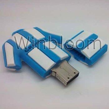 Football Jersey USB Memory Stick 4GB 8GB 16GB True Capacity PVC Pen Drive PU0019