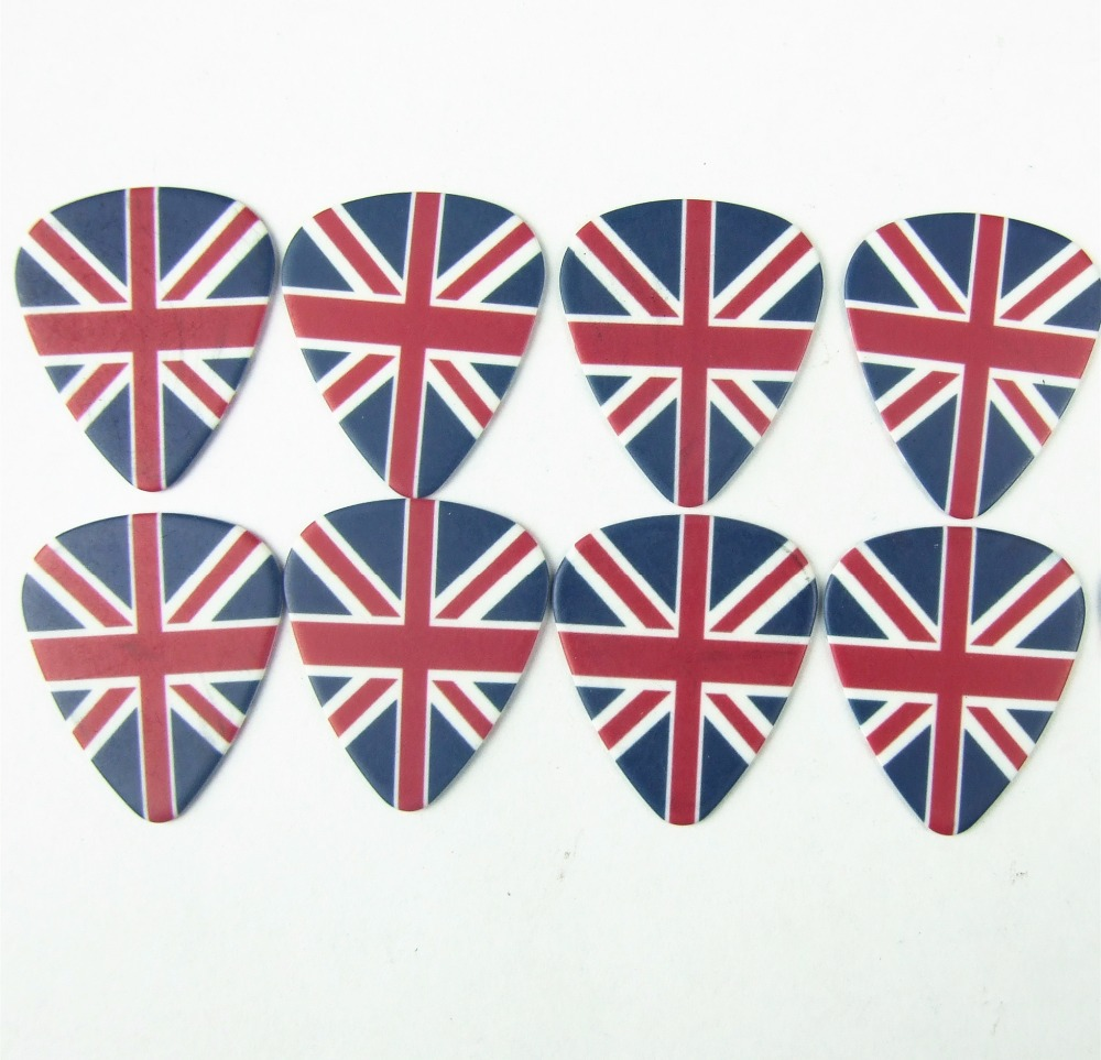 Guitar picks 10pcs 0.71mm The British flag UK england high quality earrings pick guitar accessries pick guitar picks(China (Mainland))