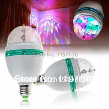 Buy 2014 Full Color 3W Rotate RGB lamp DJ party stage Bulb rotating Lamp Small Crystal Magic Ball Light Rotating Free for $28.72 in AliExpress store