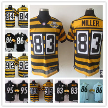 ALL Style Signature ! New arrival,Pittsburgh Steelers 83 Heath Miller 84 Antonio Brown 86 Hines Ward 92 James Harrison(China (Mainland))