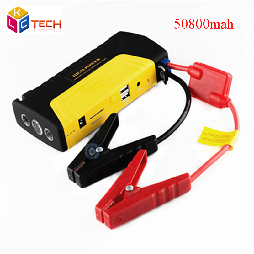 2016 High-quality Multi-function Emergency Power Bank 12V Car Battery Charger Jump Starter 50800mAh Works For Petrol Free Ship(China (Mainland))