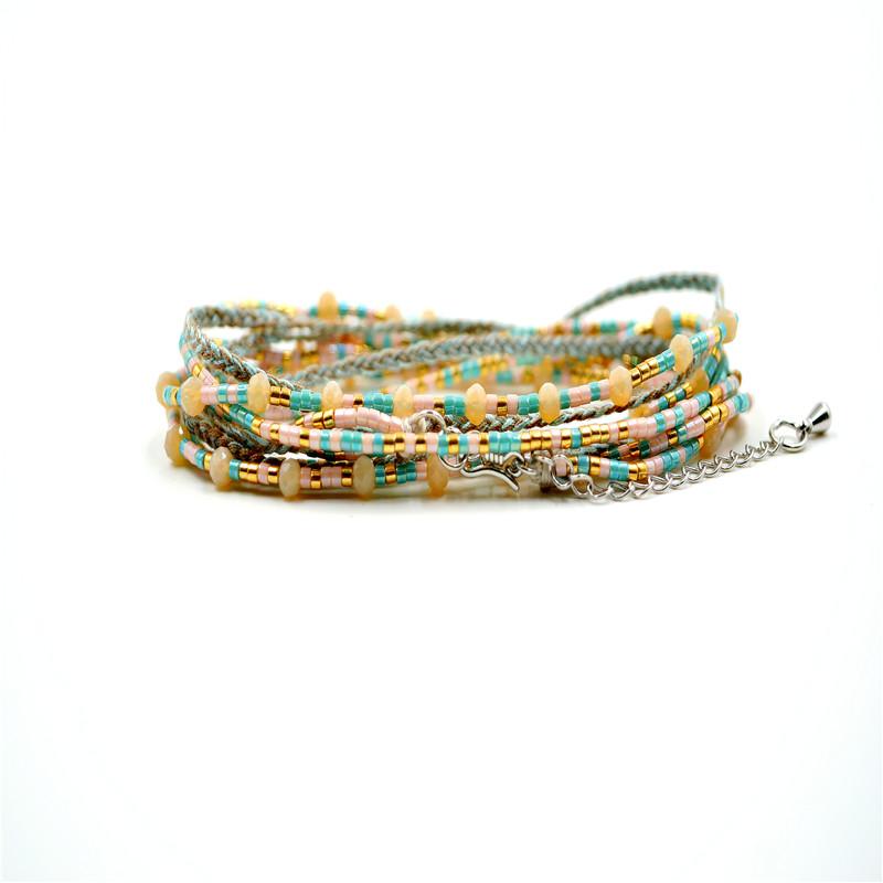 New Crystal Jewelry Bracelet Love Bracelets For Women Pulseira Feminina Bohemian Handmade Diy Boho Style Bijoux Femme Seed Beads(China (Mainland))