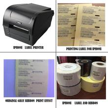 IOS Celular IMEI solução de impressão de impressora de etiquetas autocolante com suporte técnico profissional para 5 black label & white ribbon(China (Mainland))