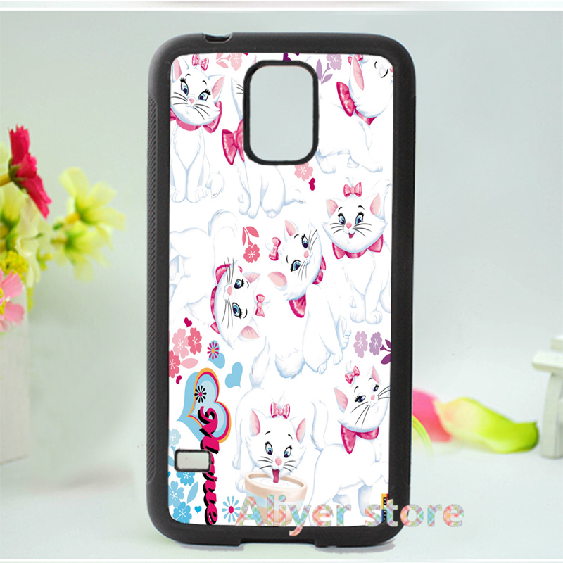 marie cat kitty fashion original cell phone case cover for Samsung galaxy S3 S4 S5 Note 2 Note 3 E503(China (Mainland))