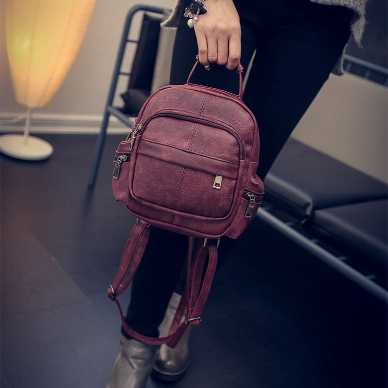 Rivet Backpack Female Korean Retro Nubuck Leather Backpack Bag Lady In The Trumpe Bag Classic Styles High Quality Brand Handbag<br><br>Aliexpress
