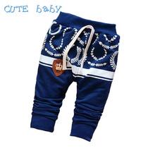 2016 Spring Cotton Pants Boys Baby Fashion Printing Cartoon Children's Pants Boys Casual All-Match Pants Boys Kids 7-24M