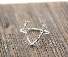 1pc 2015 New Fashion Antler Cute Animal Rings for Women in Gold Silver Rose Gold Statement