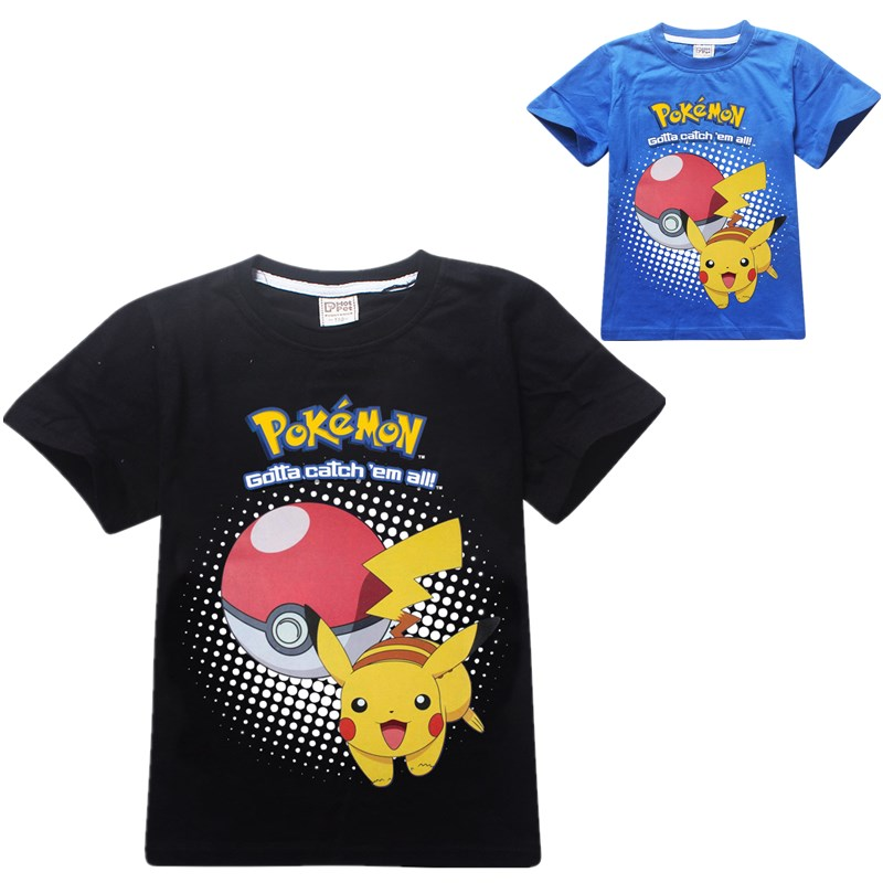 font b Pokemon b font Boys T Shirt Summer Pikachu Children Boy Clothes Bobo Choses