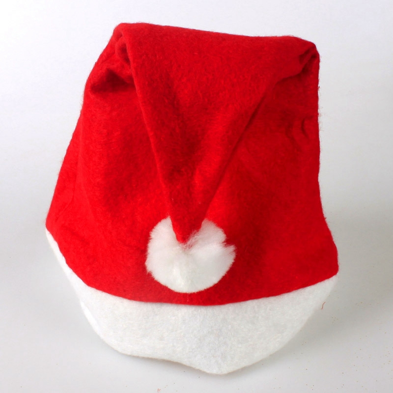 2016 New Year 12 Pcs Nonwoven Red White Christmas Hats Xmas Caps For Christmas Decoration Supplies MC009(China (Mainland))