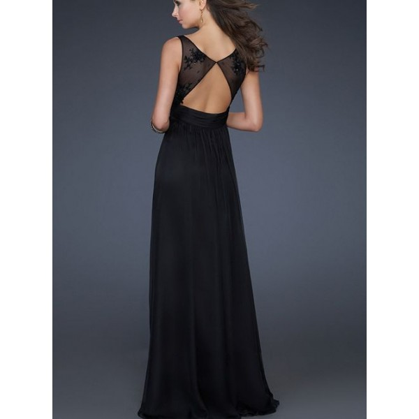 Images of Black Long Evening Gown - Reikian