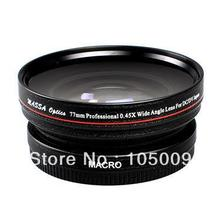 77mm 0.45x 77 mm Wide Angle with Macro Conversion lens for canon nikon pentax fuji olympus black(China (Mainland))