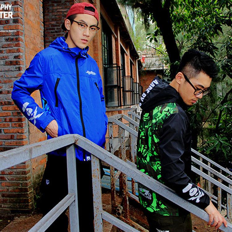 2015 casual hip-hop brand autumn winter waterproof 3m reflective jacket men clothes outdoor baseball coats windbreaker jackets(China (Mainland))