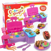Clay Mud Tool Kit Mould Toys Barbecue Series Color Plasticine Mold Suit Children Kids Educational Toys For Pretend Play(China (Mainland))