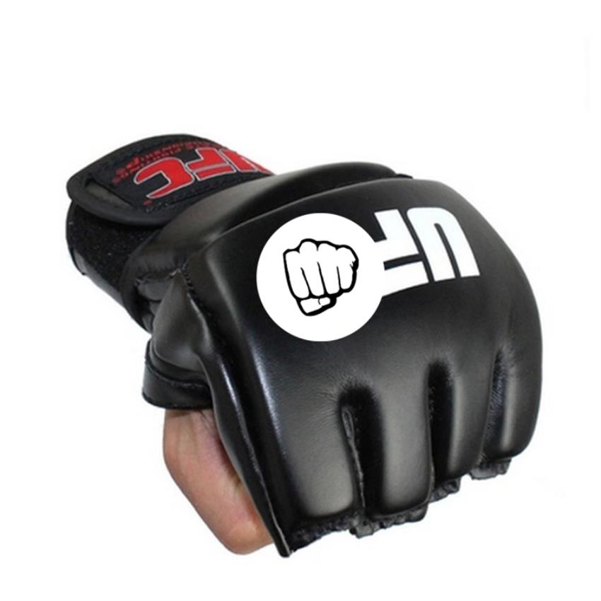 Long leather cuff MMA Fight Muay Thai fighting half-finger glove glove for men and women muay thai boxing gloves box gloves