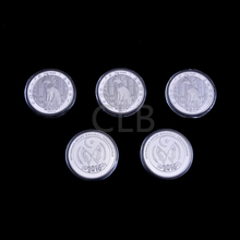 Wholesale New 2016 100 Ptas Silver Plated Metal Coin The Bastet Design Old Copy Coin with Plastic Case for Collection(China (Mainland))