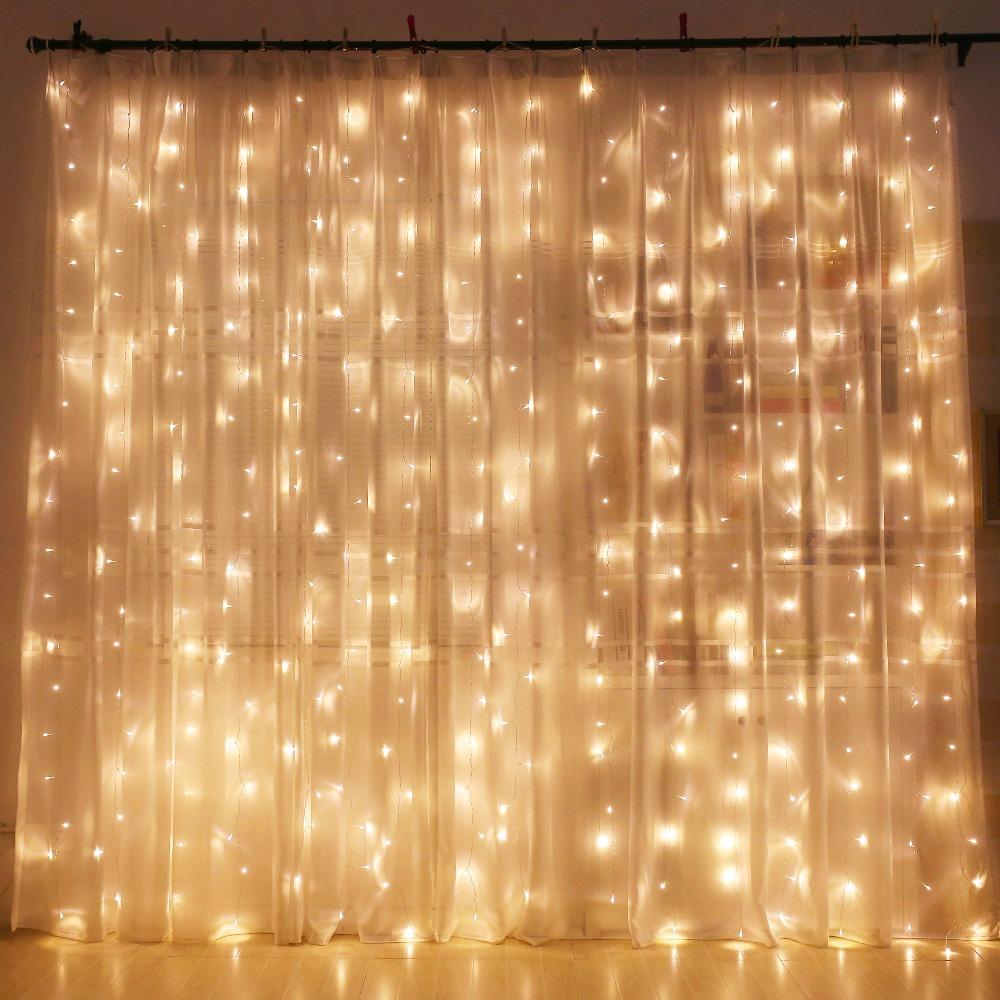 Curtain LED String Lights modern home 300leds 300CM length Christmas Garlands Fairy Party Garden Wedding new year Decor fairy VR(China (Mainland))