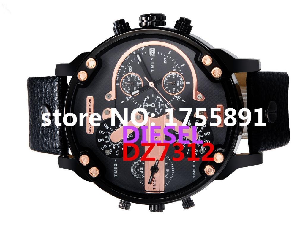 Relogio masculino2015 selling brand of men's watches DZ7312 fashion casual waterproof leather quartz watch male DZ RELOJ Brother(China (Mainland))