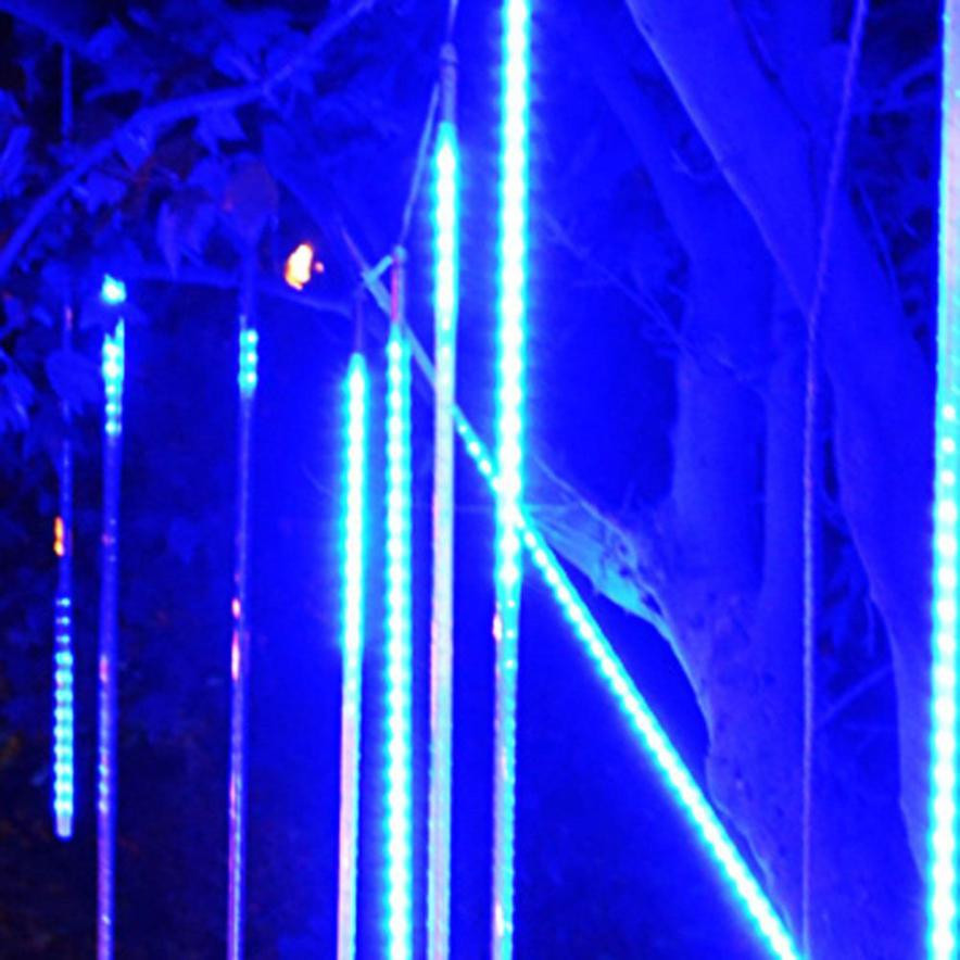 DC 8 Shining Hot Selling Drop Shipping 30CM LED Lights Meteor Shower Rain Snowfall Xmas Tree Garden Outdoor