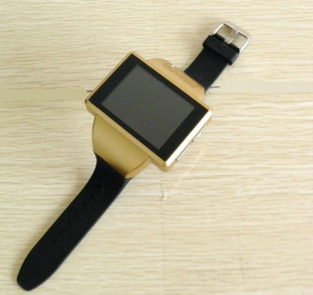 ถูก ใหม่สีดำAN1หุ่นยนต์4.1โทรศัพท์นาฬิกาสมาร์ทDual Core 2.0นิ้วหน้าจอสัมผัสนาฬิกาโทรศัพท์มือถือ2.0 MP WiFiจีพีเอสเอฟเอ็ม