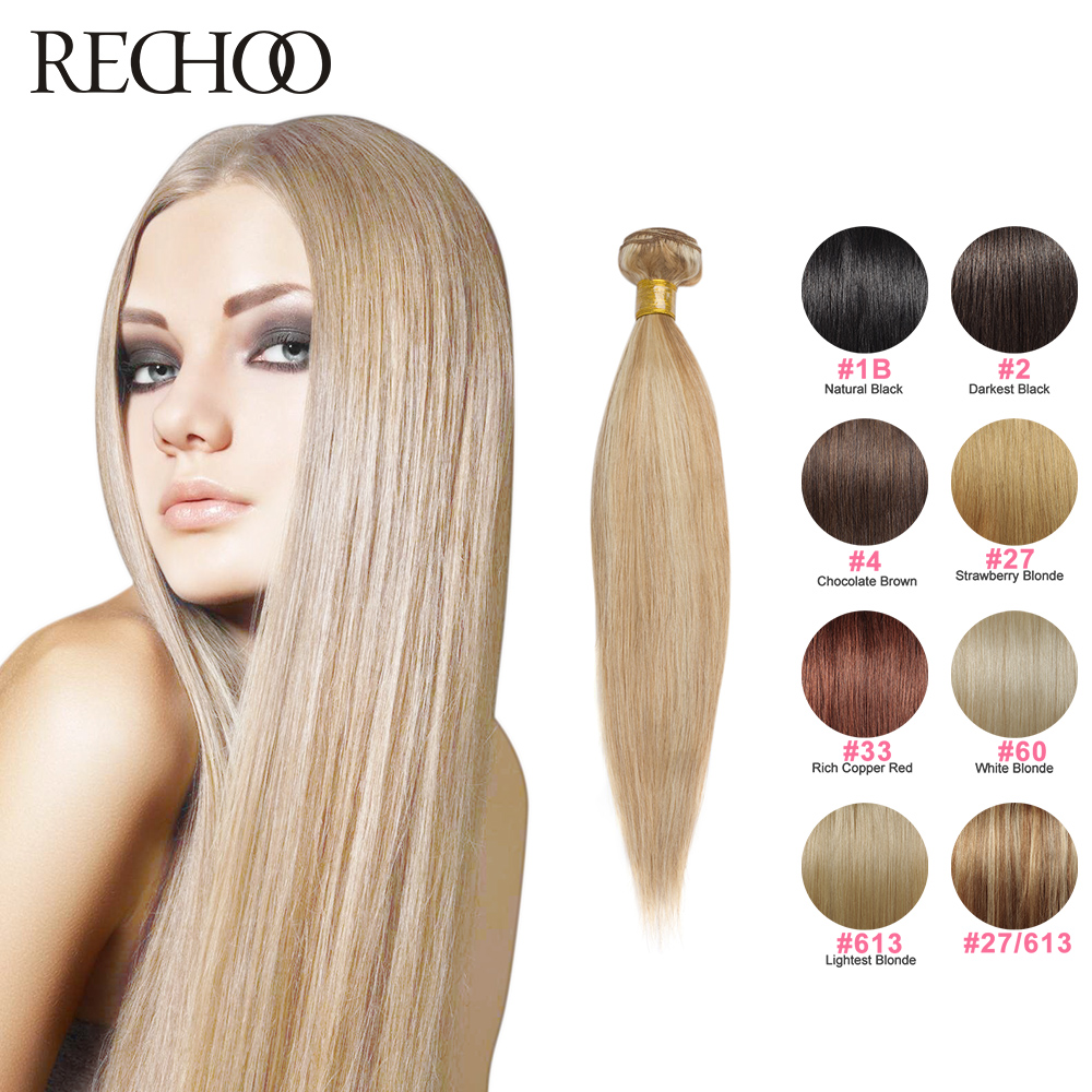 Real Human Hair Weft Extensions Remy Indian Hair