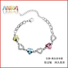 Free shipping mix wholesale jewelry perfect package purple crystal bracelet#77327(China (Mainland))