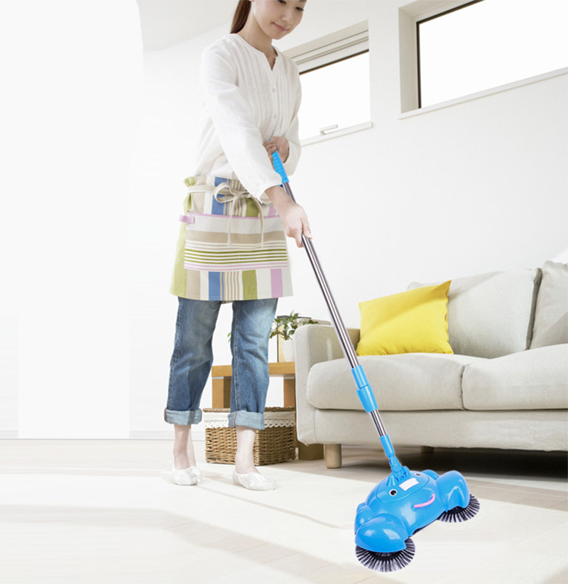 2015 Hot Pushing Sweeper Vacuum Cleaners Household Floor Cleaner Manually Cleaning Machine Broom Don't Bend Over No Electricity(China (Mainland))